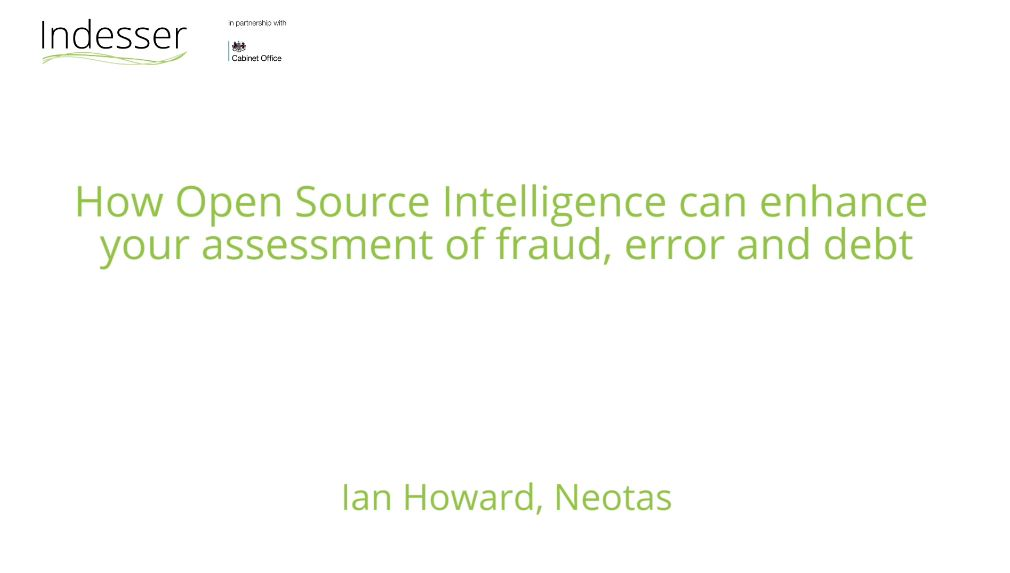 Using Open Source Intelligence