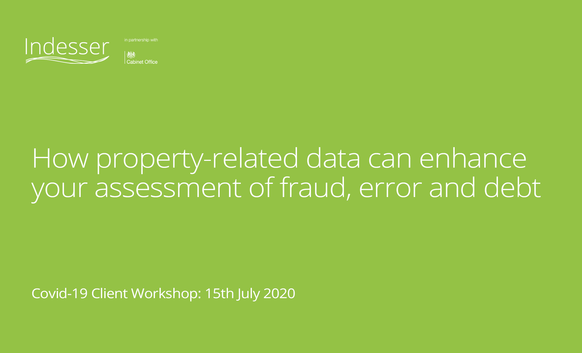 Using property-related data to enhance fraud, error and debt
